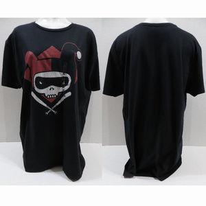DC Comics shirt XL NWOT Harley Quinn skull cross